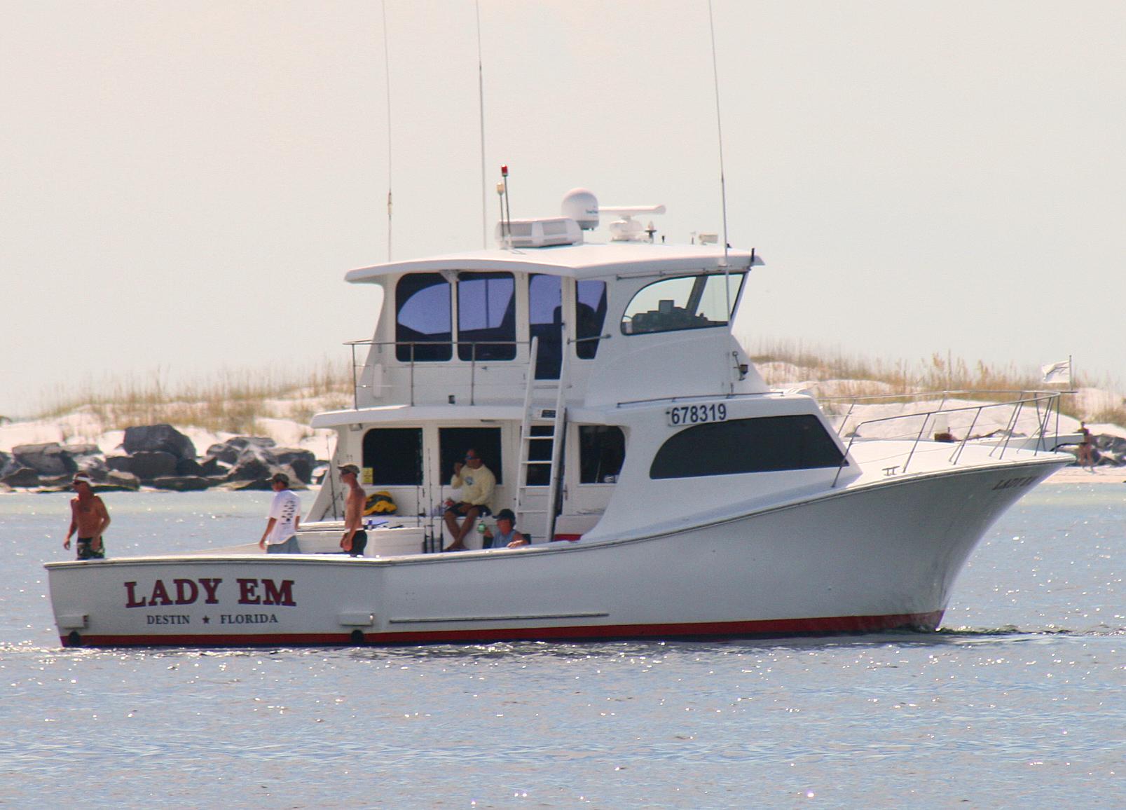 Deep sea fishing charters in destin fish destin for Sea fishing boats